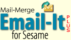 Send merged emails right from your Sesame records